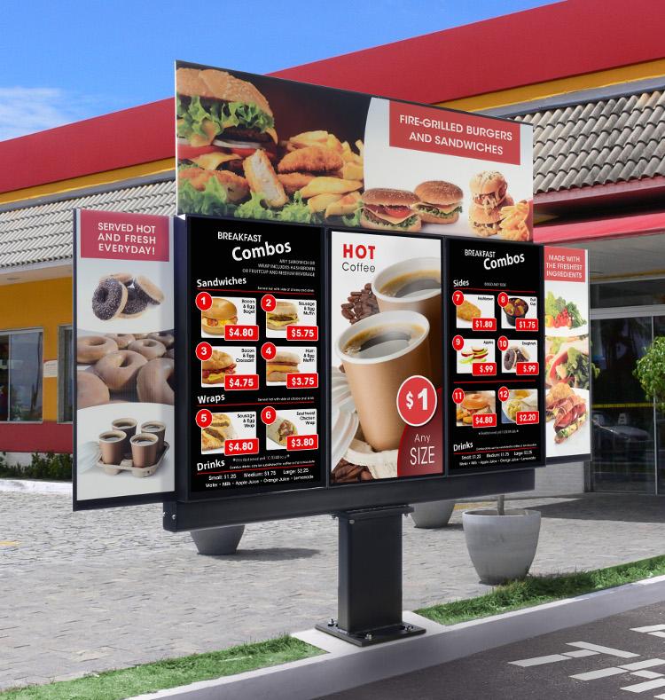 Peerless AV Xtreme vor Fast Food Kette