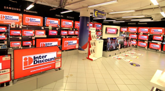 <strong>Interdiscount: Digital Signage in 200 Filialen</strong>