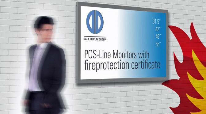 <strong>Rauchgas- und Brandlast-optimiert sind die Monitore von Distec</strong>