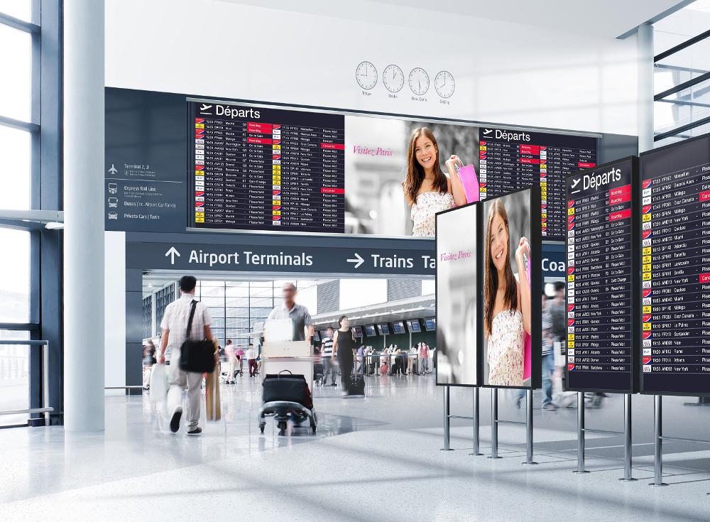 Displaylösungen für Flughäfen