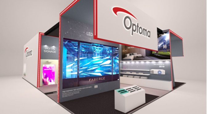 Optoma Messestand ISE 2018