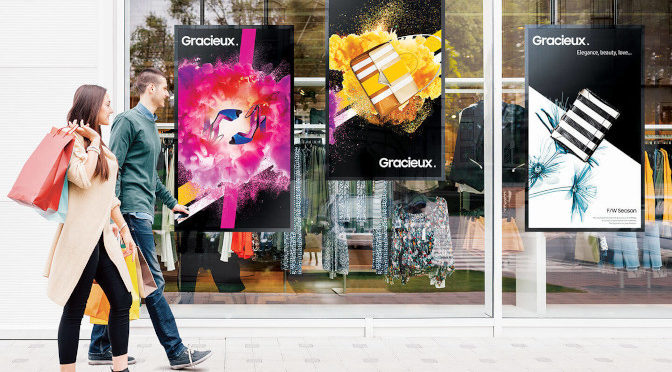 <strong>Smart Signage fürs Schaufenster mit OMN-D-Displays</strong>