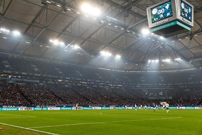 LED-Videowürfel auf Schalke