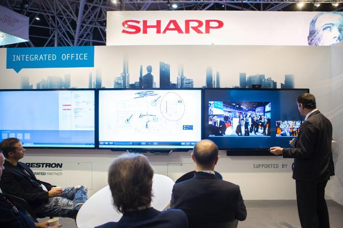 Sharp Advanced Multi-Board Software im Einsatz