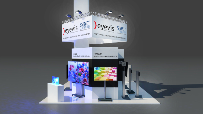Eyevis Messestand Prolight + Sound
