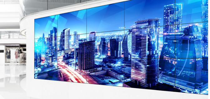 Videowall von Panasonic mit TH55-Displays