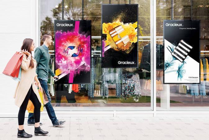 Samsung Schafensterdisplays der OMN-Serie