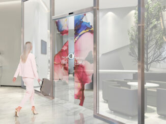 OLED-Tür von LG und Assa Obloy