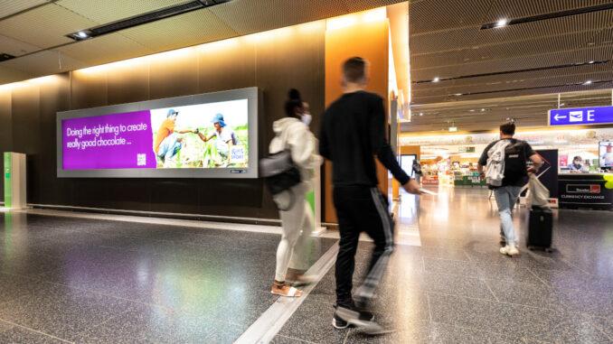 Ritter Sport Werbung am Terminal